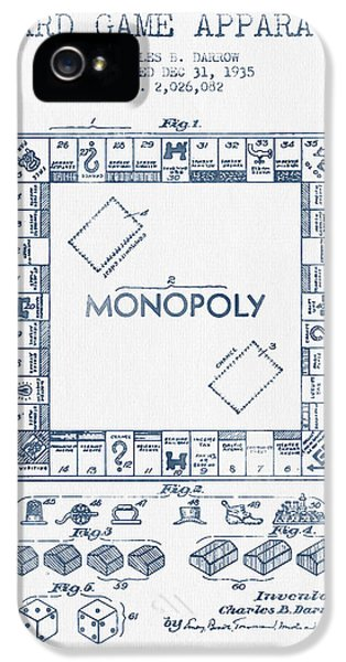Monopoly iPhone 5 Cases - Monopoly Patent from 1935 - Blue Ink iPhone 5 Case by Aged Pixel