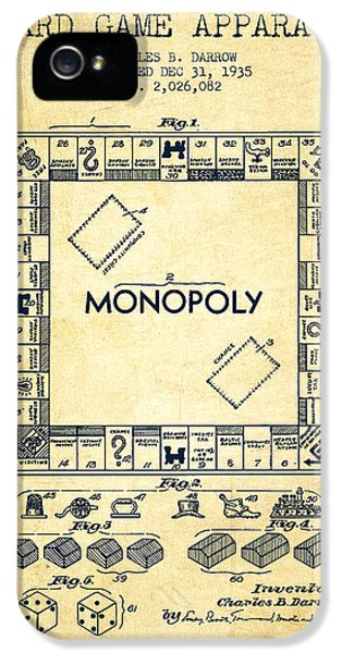 Monopoly iPhone 5 Cases - Monopoly Patent from 1935 - Vintage iPhone 5 Case by Aged Pixel