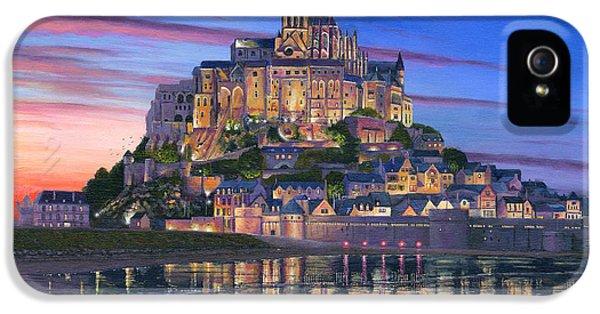 Historical iPhone 5 Cases - Mont Saint-Michel Soir iPhone 5 Case by Richard Harpum