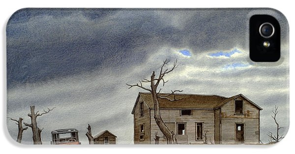 Abandoned iPhone 5 Cases - Montana Abandoned Homestead iPhone 5 Case by Paul Krapf