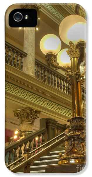 House Of Representatives iPhone 5 Cases - Montana State Capitol iPhone 5 Case by Juli Scalzi