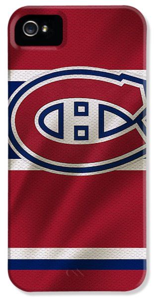 Stick iPhone 5 Cases - Montreal Canadiens Uniform iPhone 5 Case by Joe Hamilton