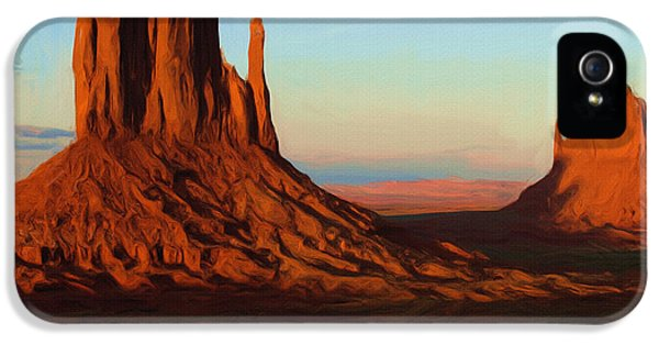Outdoors iPhone 5 Cases - Monument Valley 2 iPhone 5 Case by Ayse Deniz