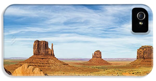Monument iPhone 5 Cases - Monument Valley Panorama - Arizona iPhone 5 Case by Brian Harig