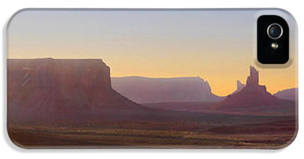 Monument iPhone 5 Cases - Monument Valley Sunset 3 iPhone 5 Case by Mike McGlothlen