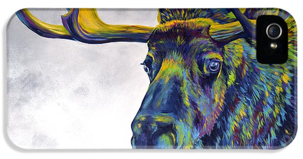Modern Western iPhone 5 Cases - Moody Moose iPhone 5 Case by Teshia Art
