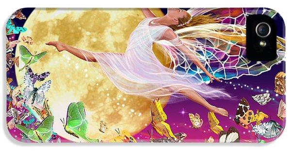 Fairies iPhone 5 Cases - Moon Fairy Variant 1 iPhone 5 Case by Garry Walton