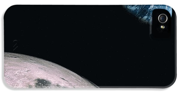 Apollo Print iPhone 5 Cases - Moon to Earth iPhone 5 Case by Brady Barrineau