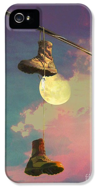 Moon Walk iPhone 5 Cases - Moon Walk iPhone 5 Case by Robert Ball