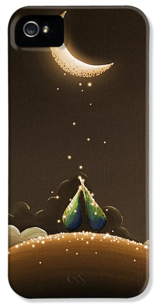Moon iPhone 5 Cases - Moondust iPhone 5 Case by Cindy Thornton