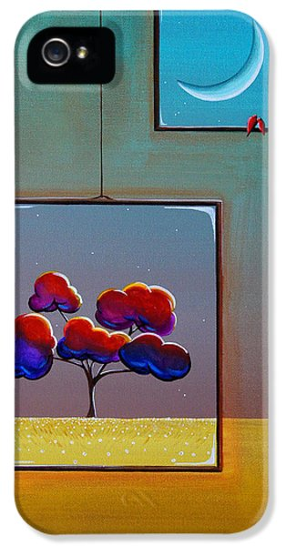 Window iPhone 5 Cases - Moonlight iPhone 5 Case by Cindy Thornton