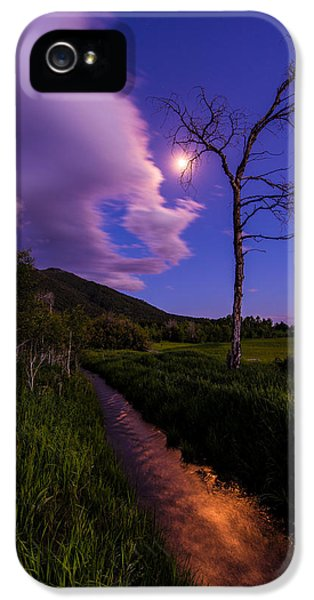 Moonrise iPhone 5 Cases - Moonlight Meadow iPhone 5 Case by Chad Dutson