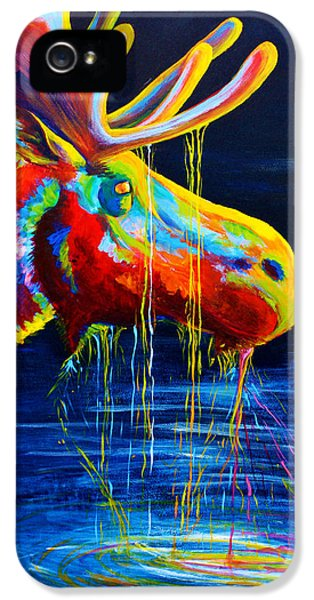 Abstract Canvas iPhone 5 Cases - Moose Drool iPhone 5 Case by Teshia Art