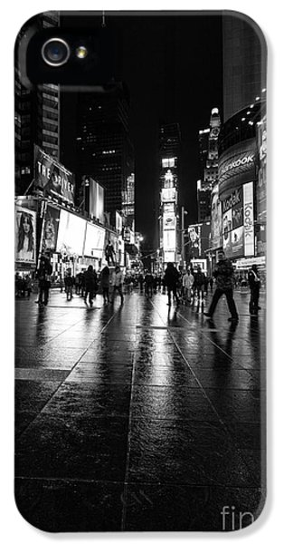 Times Square iPhone 5 Cases - More TImes Square mono iPhone 5 Case by John Farnan
