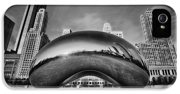 Glowing iPhone 5 Cases - Morning Bean in Black and White iPhone 5 Case by Sebastian Musial
