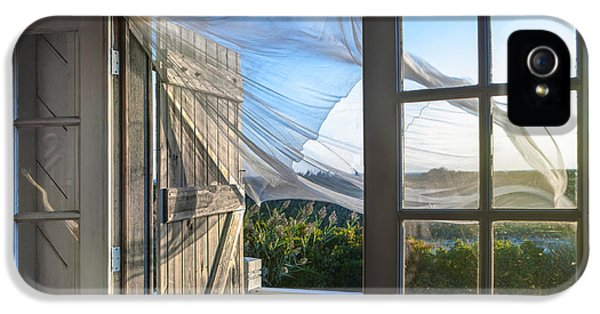 Curtain iPhone 5 Cases - Morning Breeze at the Beach House iPhone 5 Case by Diane Diederich