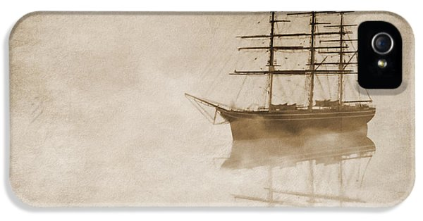 Navy iPhone 5 Cases - Morning mist in sepia iPhone 5 Case by John Edwards
