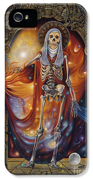 Grim Reaper iPhone 5 Cases - Mors Santi iPhone 5 Case by Ricardo Chavez-Mendez