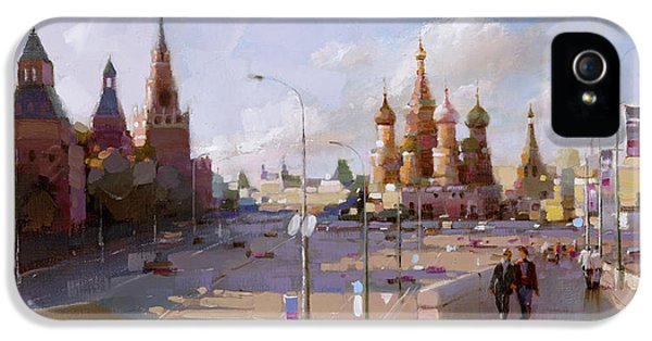 Moscow. Vasilevsky Descent. Views Of Red Square. IPhone 5 / 5s Case by Ramil Gappasov