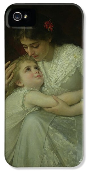 Tenderness iPhone 5 Cases - Mother and Child iPhone 5 Case by Emile Munier
