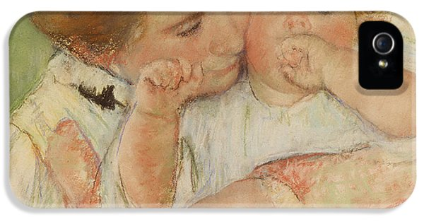 Hug iPhone 5 Cases - Mother and Child iPhone 5 Case by Mary Stevenson Cassatt