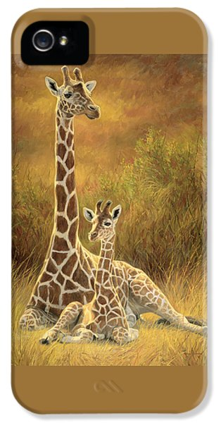 Babies iPhone 5 Cases - Mother and Son iPhone 5 Case by Lucie Bilodeau