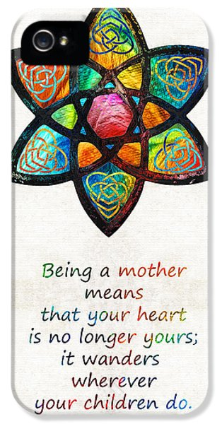 Honor iPhone 5 Cases - Mother Mom Art - Wandering Heart - By Sharon Cummings iPhone 5 Case by Sharon Cummings