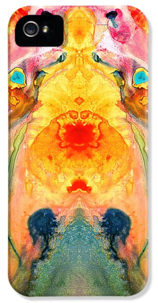 Eco iPhone 5 Cases - Mother Nature - Abstract Goddess Art By Sharon Cummings iPhone 5 Case by Sharon Cummings