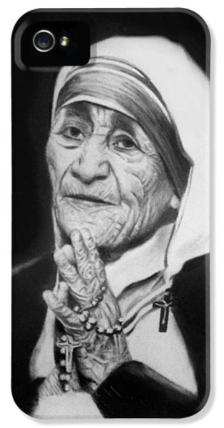 Holy Spirit iPhone 5 Cases - Mother Teresa iPhone 5 Case by Anthony Falbo