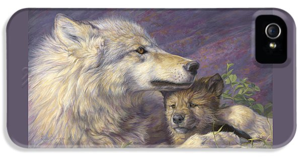 Gray iPhone 5 Cases - Mothers Love iPhone 5 Case by Lucie Bilodeau
