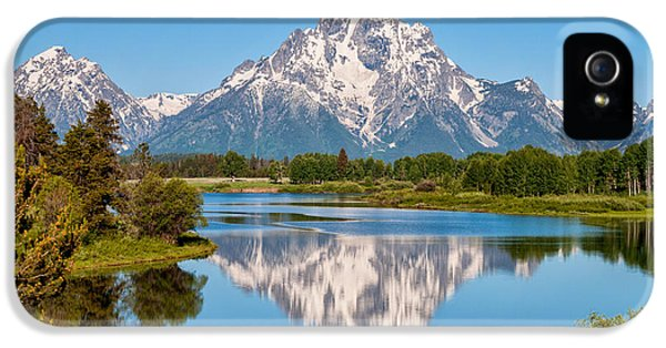 Mount Moran On Snake River Landscape IPhone 5 / 5s Case by Brian Harig