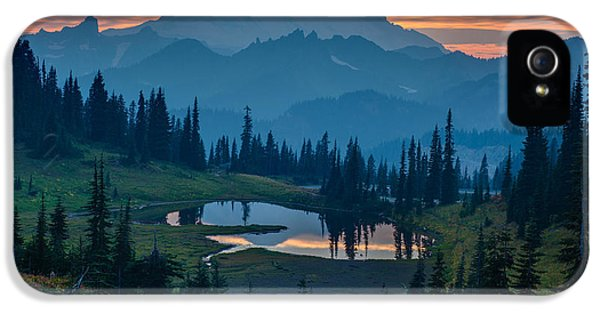 Mount Rainier Layers IPhone 5 / 5s Case by Mike Reid