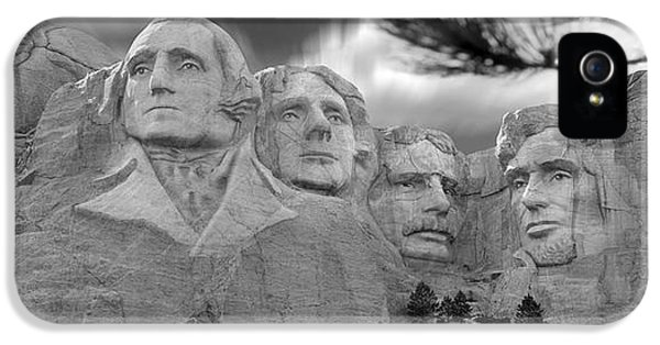 National Monuments iPhone 5 Cases - Mount Rushmore Panoramic iPhone 5 Case by Mike McGlothlen