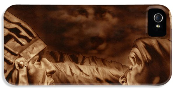 Native American Woman iPhone 5 Cases - Mountain Chief iPhone 5 Case by Luis  Navarro