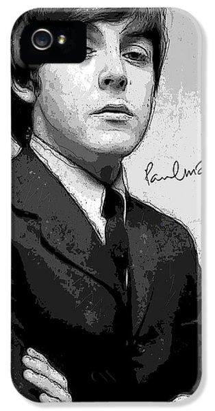 Paul Mccartney iPhone 5 Cases - Mr. McCartney iPhone 5 Case by Gary Bodnar