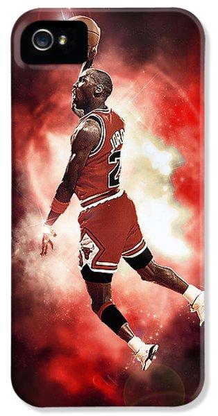 Air Jordan iPhone 5 Cases - Mr. Michael Jeffrey Jordan aka Air Jordan MJ iPhone 5 Case by Nicholas  Grunas