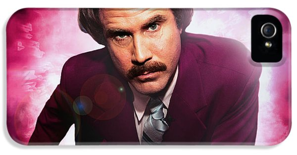 Mr. Ron Mr. Ron Burgundy From Anchorman IPhone 5 / 5s Case by Nicholas  Grunas