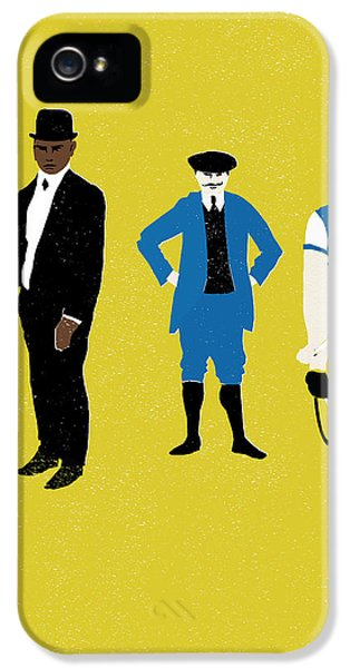 Bowler iPhone 5 Cases - MT Yellow iPhone 5 Case by Eliza Southwood