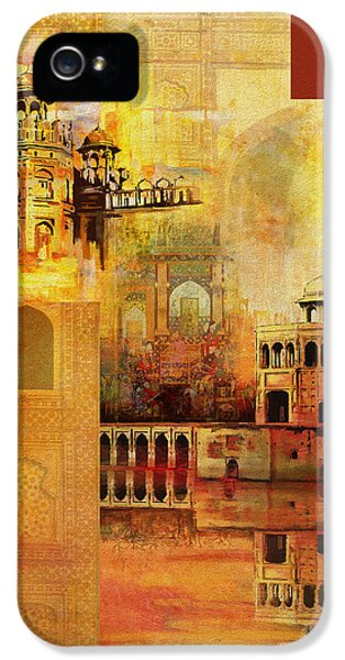 Pakistan iPhone 5 Cases - Mughal Art iPhone 5 Case by Catf