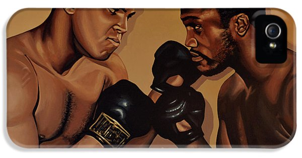 Idols iPhone 5 Cases - Muhammad Ali and Joe Frazier iPhone 5 Case by Paul Meijering
