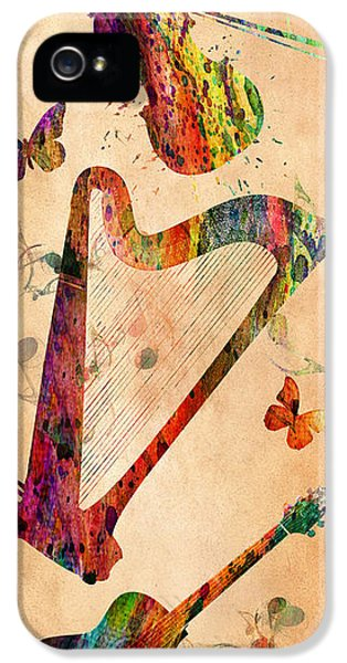 Orsillo iPhone 5 Cases - Music 3 iPhone 5 Case by Mark Ashkenazi