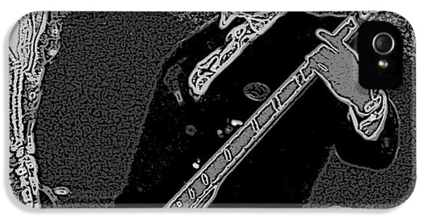 Bass Player Art Bw IPhone 5 / 5s Case by Lesa Fine