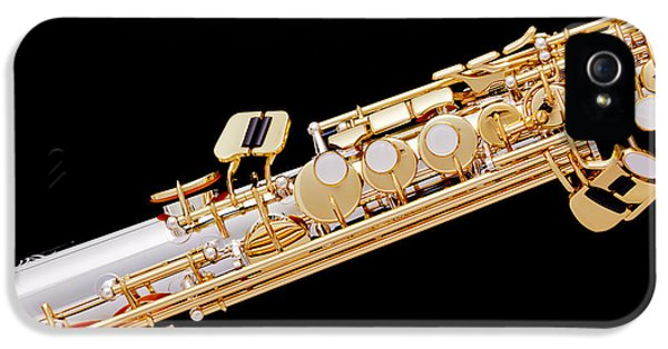 Rock And Roll Photographs Pictures iPhone 5 Cases - Music Photograph of Soprano Saxophone in Color 3341.02 iPhone 5 Case by M K  Miller