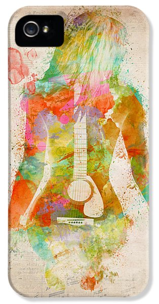 Popular iPhone 5 Cases - Music Was My First Love iPhone 5 Case by Nikki Marie Smith