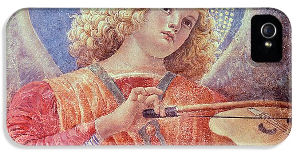Music iPhone 5 Cases - Musical Angel with Violin iPhone 5 Case by Melozzo da Forli