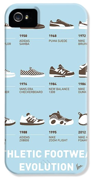 Industrial iPhone 5 Cases - My Evolution Sneaker minimal poster iPhone 5 Case by Chungkong Art