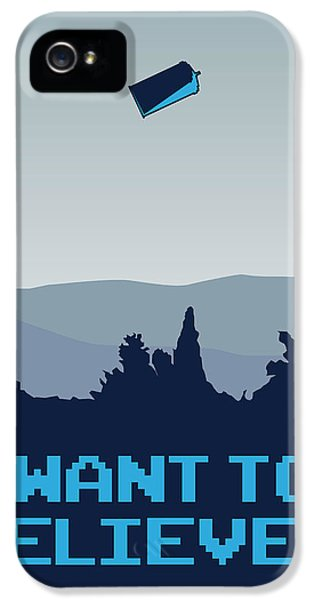 Tv Show iPhone 5 Cases - My I want to believe minimal poster- tardis iPhone 5 Case by Chungkong Art
