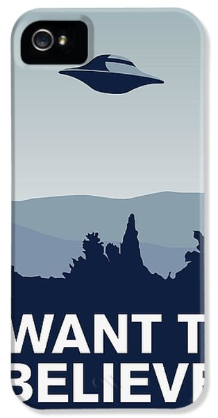 Tv Show iPhone 5 Cases - My I want to believe minimal poster-xfiles iPhone 5 Case by Chungkong Art