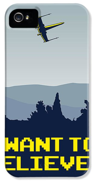 My I Want To Believe Minimal Poster- Xwing IPhone 5 / 5s Case by Chungkong Art