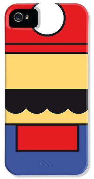 Video Game Art iPhone 5 Cases - My Mariobros Fig 01 Minimal Poster iPhone 5 Case by Chungkong Art